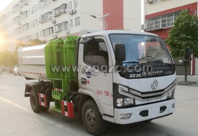 程力集团国六东风小多利卡挂桶垃圾车